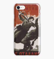 WWII Soviet Propaganda Poster iPhone Case/Skin