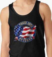 Army Veteran Proud to Be American Flag t-shirt Tank Top