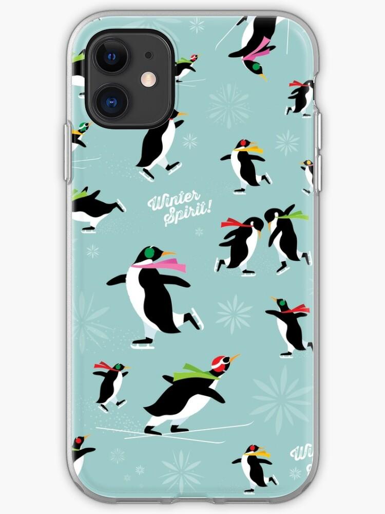 Winter penguins iPhone 11 case