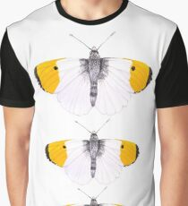 Orange Tipped Butterfly Graphic T-Shirt