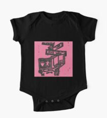 black and pink street signs Kids Clothes