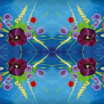 Viola Bouquet by peaceofpistudio