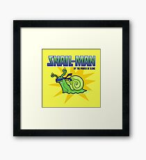 Snail-Man - by the Power of Slime Framed Print