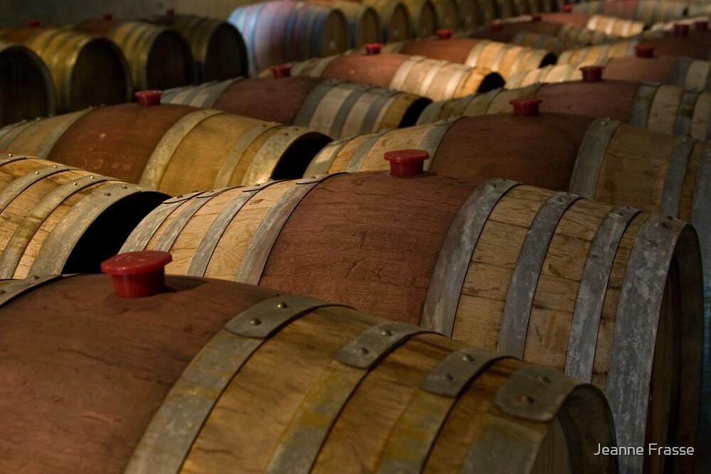Wine Barrels by Jeanne Frasse