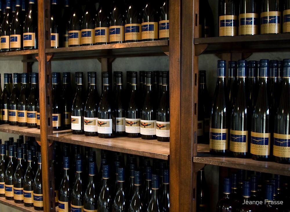 Wine Bottles by Jeanne Frasse