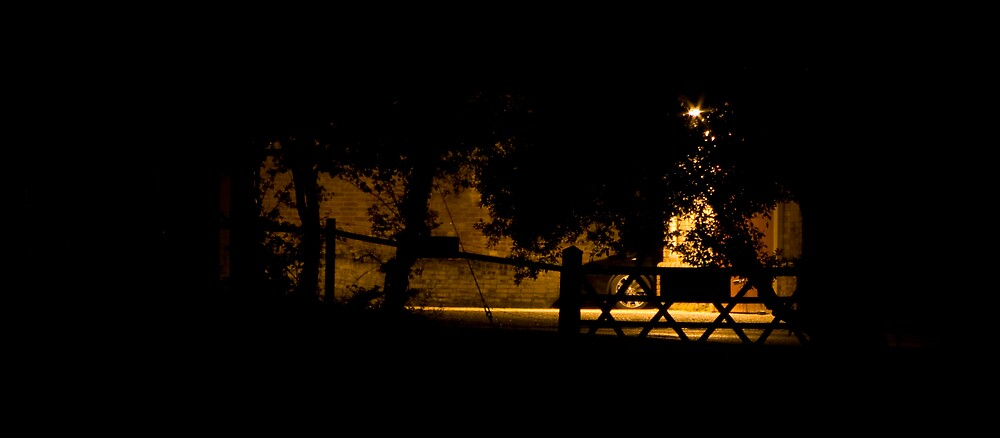 Gate at Night by Tristan Drinkwater