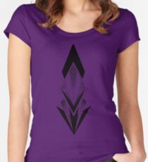 Abstract ink arrow Women's Fitted Scoop T-Shirt
