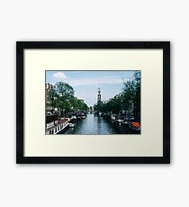 Down the Canal Framed Print