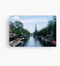 Down the Canal Canvas Print