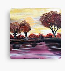 Autumn Sundown Canvas Print
