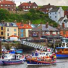 Busy Whitby Harbour by Tom Gomez