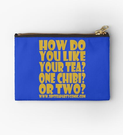 STPC: How Do You Like Your Tea? One Chibi? Or Two? 1.0 Zipper Pouch