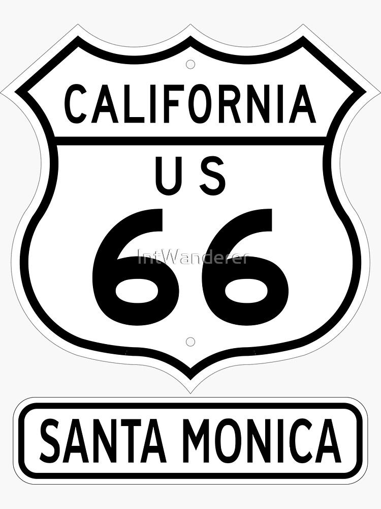 Historic Route 66 - The Mother Road - Santa Monica by NewNomads