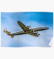 Lockheed L-1049F Super Constellation HB-RSC Poster
