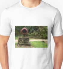 Rural barrell rustic large letterbox road grass forest background T-Shirt