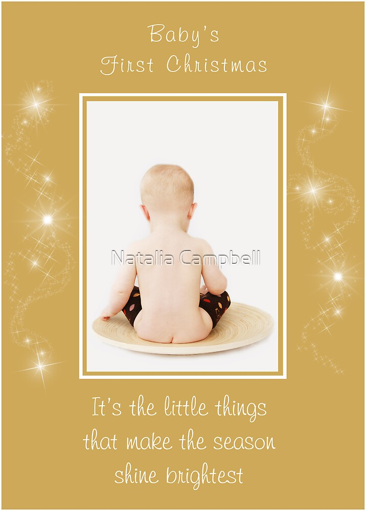 baby's first christmas by Natalia Campbell