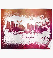Los Angeles California skyline Poster