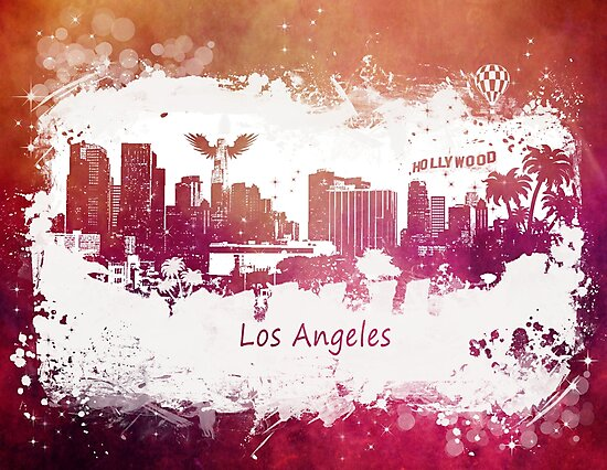 Los Angeles California skyline by JBJart