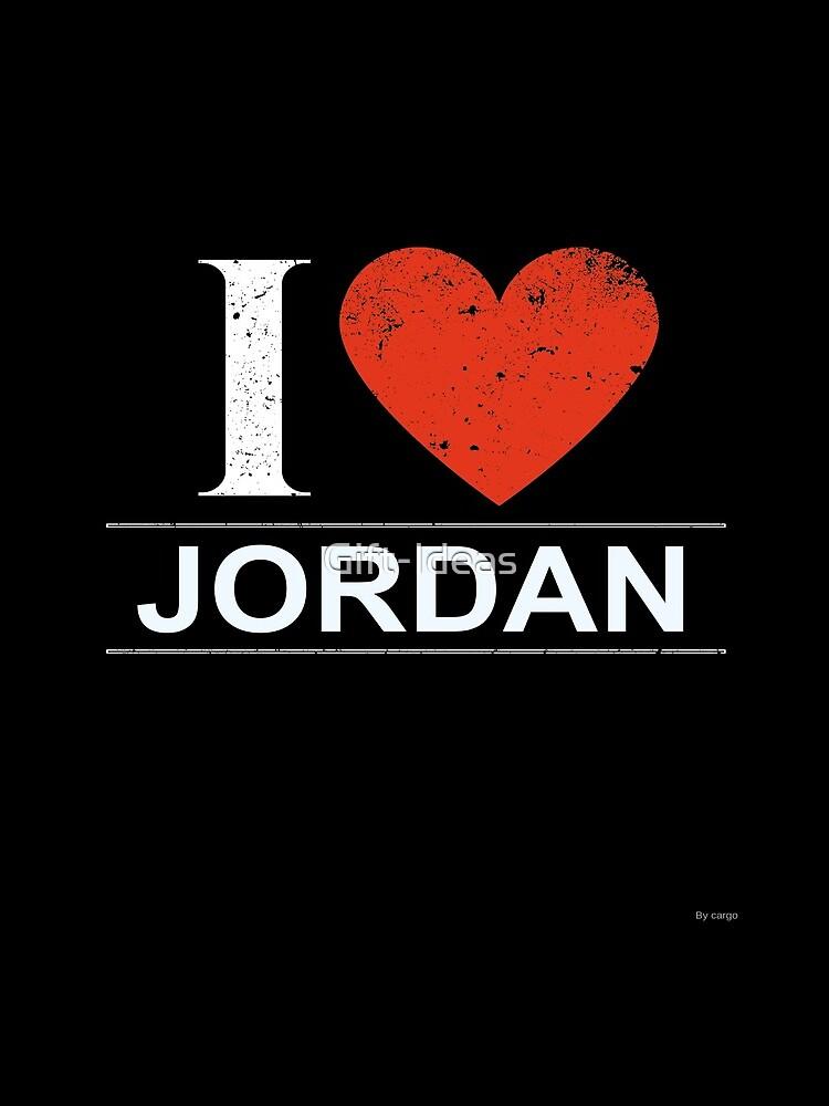 Ich liebe Jordanien-Geschenk für jordanischen JORDANIEN T-Shirt StrickjackeHoodie Iphone Samsung Telefon-Kasten Kaffeetasse-Tabletten-Kasten von Gift-Ideas