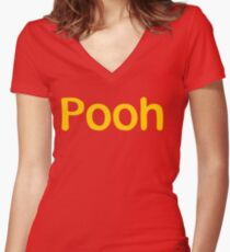 Pooh Women's Fitted V-Neck T-Shirt