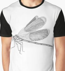 Pencil Illustration of a dragonfly Graphic T-Shirt