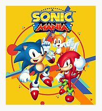 Sonic Mania Artwork Photographic Print