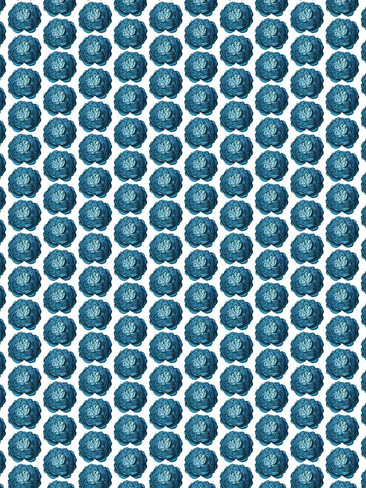 Big Blue Flower Pattern by allovervintage