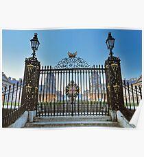 Royal Naval College Gates Poster