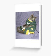 Packer Pose Greeting Card