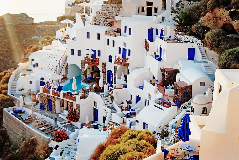 Santorini by Nathan T