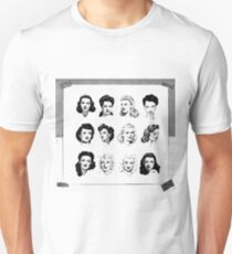 1940s Hairstyle Collage T-Shirt