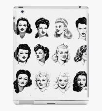 1940s Hairstyle Collage iPad Case/Skin