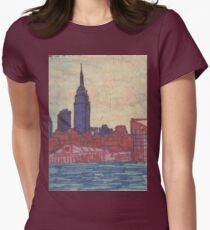 empire state silhouette Womens Fitted T-Shirt