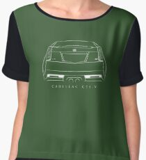 Cadillac CTS-V Coupe - rear Stencil, white Women's Chiffon Top