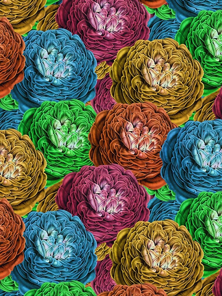 Multi-Color Roses Pattern by allovervintage