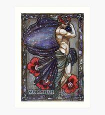 Morpheus in poppies Art Print