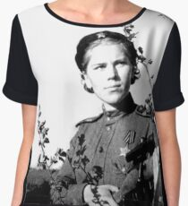WWII - Roza Shanina Women's Chiffon Top