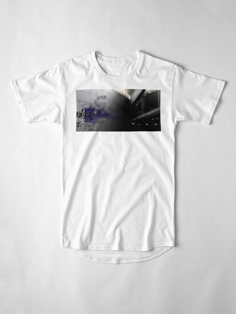 Alternate view of Cells Interlinked - Concrete Long T-Shirt
