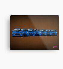 Subaru WRX STi generations - V1 Metal Print