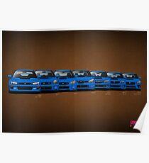 Subaru WRX STi generations - V1 Poster