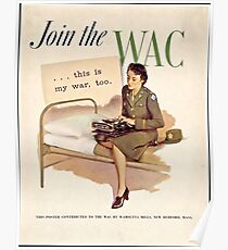 WWII WAC Poster Poster