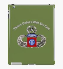 82nd AirBorne Colors will not run iPad Case/Skin