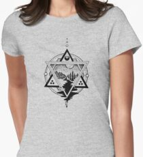 Saturn's Return in Sacred Geometry Women's Fitted T-Shirt