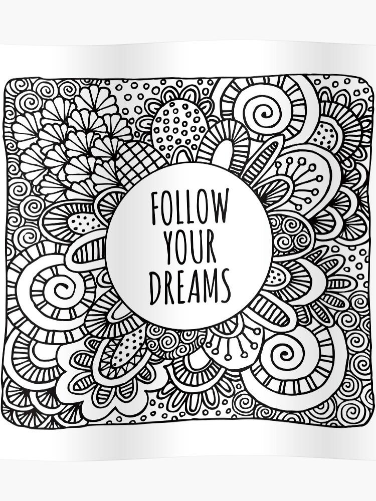 Follow your dreams doodle art | Poster