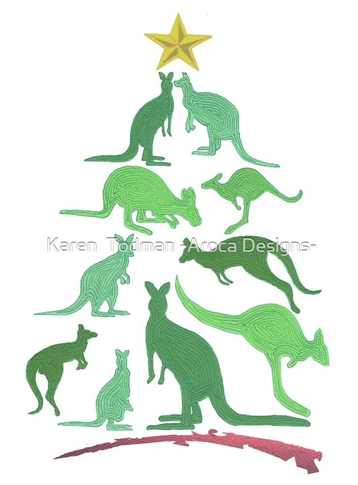 Kangaroo Christmas by Karen  Todman -Aroca Designs-