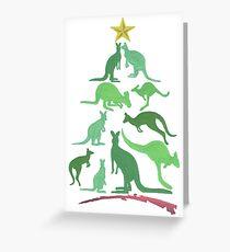 Kangaroo Christmas Greeting Card