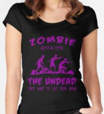 Zombie Apocalypse The Undead Women's Fitted Scoop T-Shirt