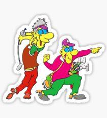 Funny Guys Golfing Sticker