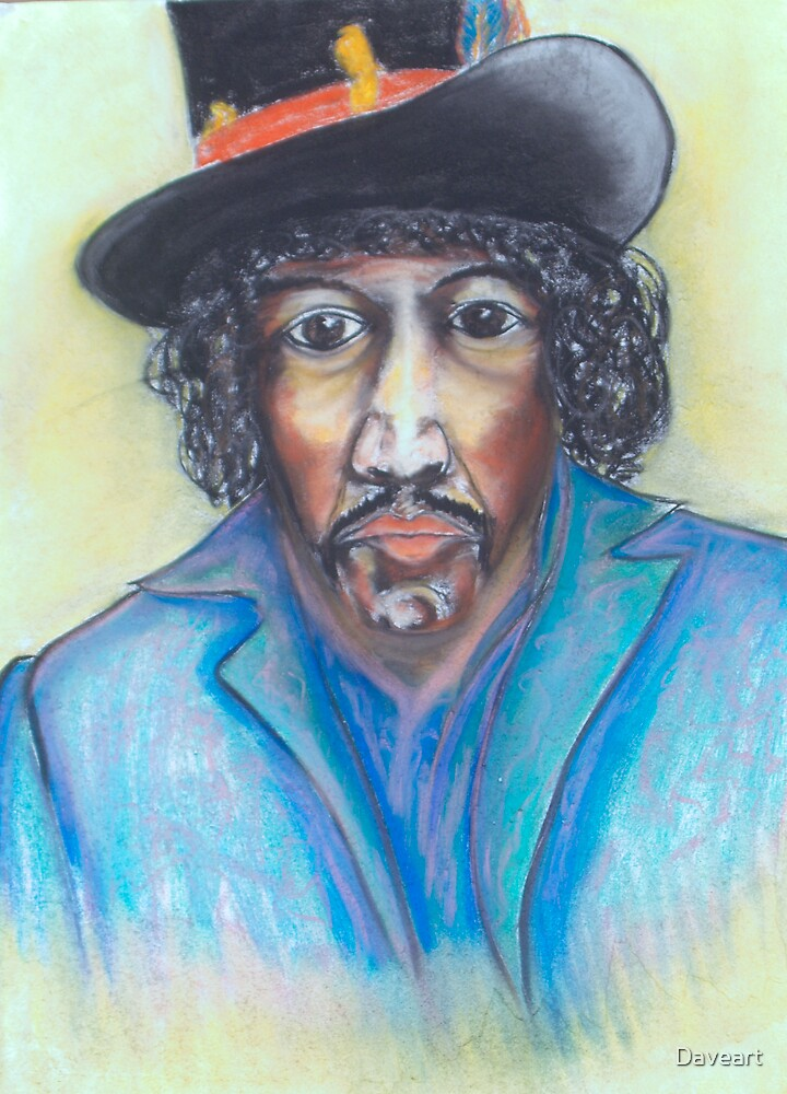 The Young Late Jimmy Hendrix by Daveart