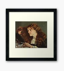 Jo, the Beautiful Irish Girl by Gustave Courbet Framed Print